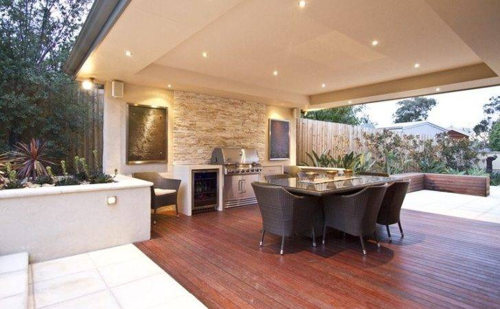 Walled Outdoor Living Design Bbq Area Decorative