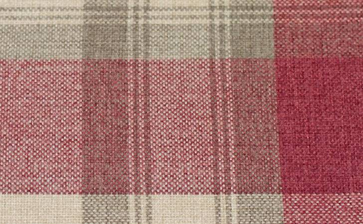 Warm Cosy Rustic Tartan Check Lined Eyelet Curtains