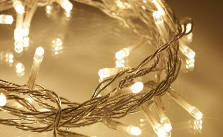 Warm White Led Indoor Fairy Lights Clear Cable