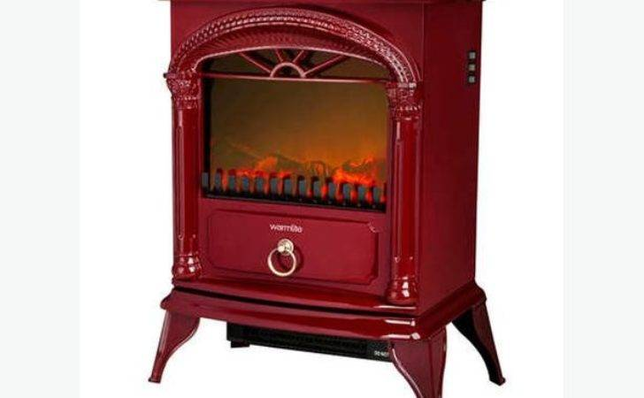 Warmlite Electric Stove Fire Log Burner Effect Heater Red