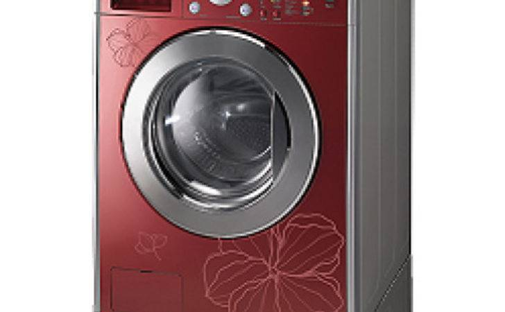 Washing Machine Drayer Steam Red Color