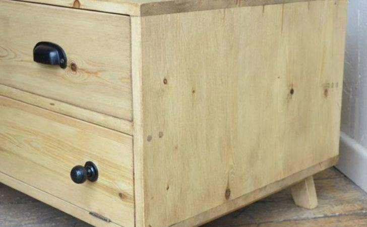 Waxed Reclaimed Pine Cupboard Drawer Unit Storage