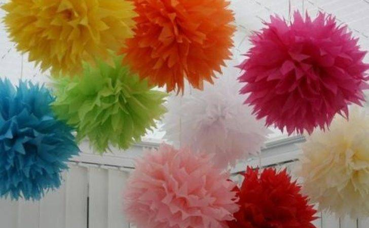 Wedding Paper Pom Poms Party Decoration Ideas