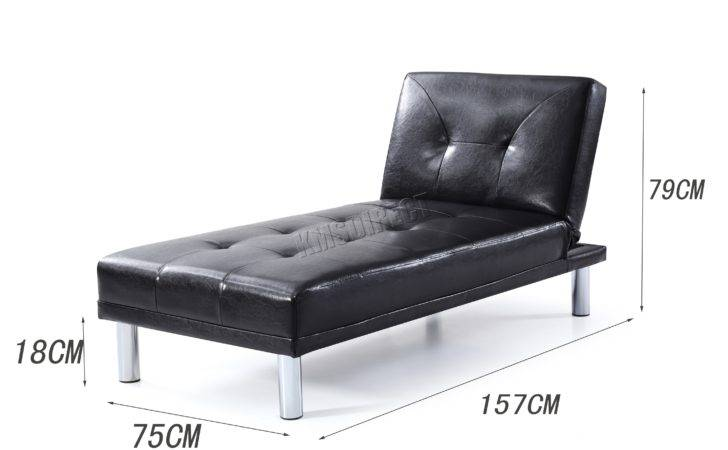 Westwood Chaise Longue Single Sofa Bed Seater Couch Faux