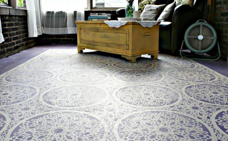 Whimsical Perspective Stenciled Floor Porch Reveal