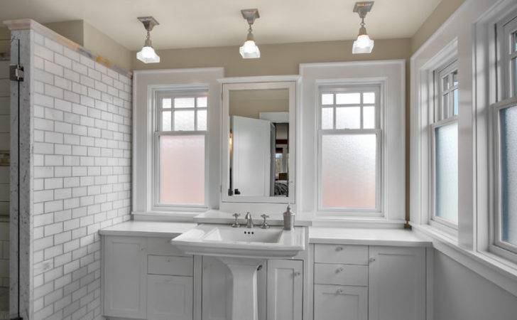 White Bathroom Cabinets Transitional