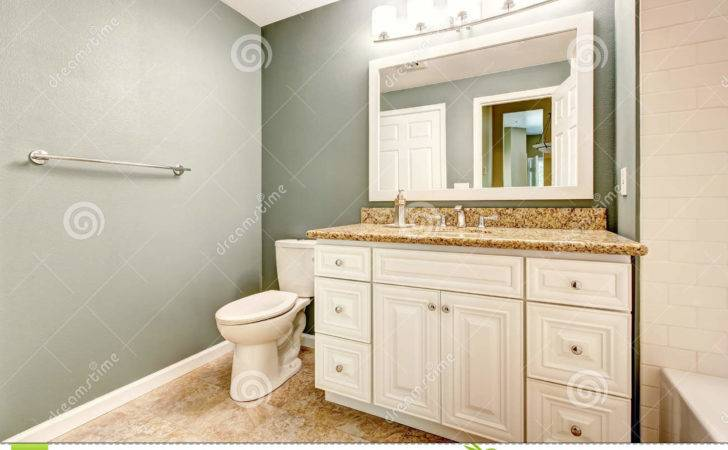 White Bathroom Vanity Cabinet Granite Top