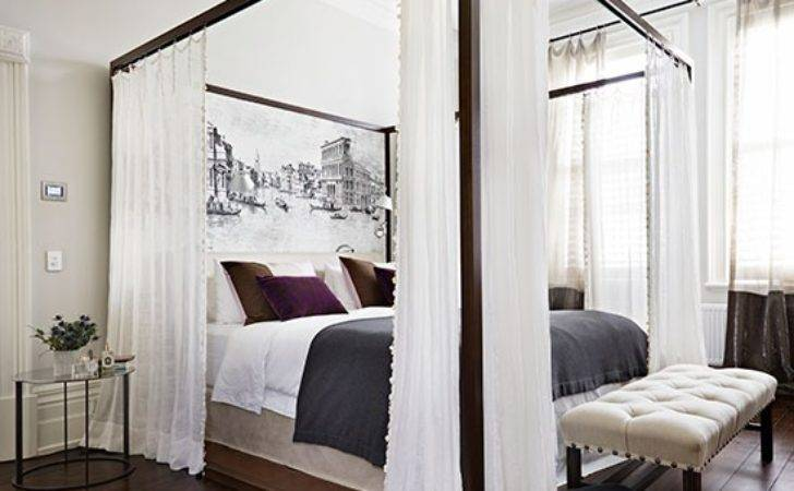 White Bedroom Four Poster Bed Decorating