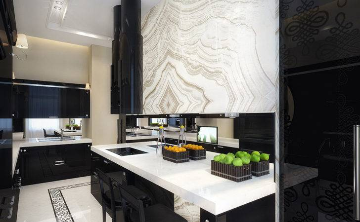 White Black Kitchen Interior Design Ideas