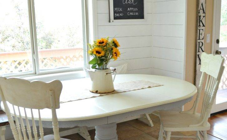 White Chalk Paint Dining Table French Linen