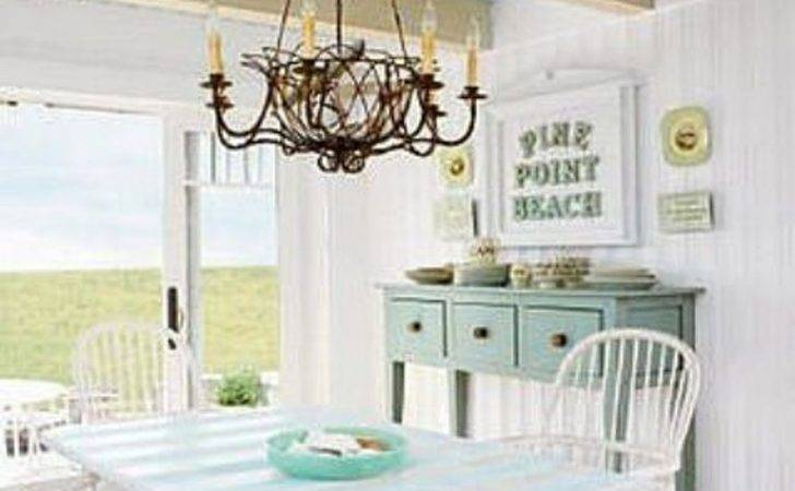 White Cottage Style Dining Room Antique Lamp