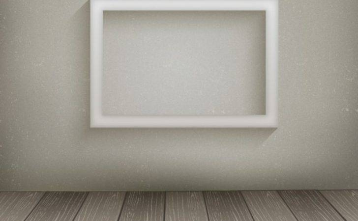 White Frame Hanging Wall Vector