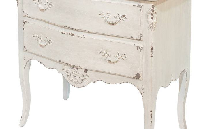 White French Shabby Chic Side Chest Nightstand