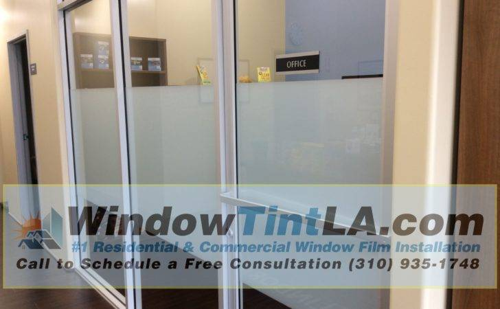 White Frost Window Film Installed Simi Valley Office