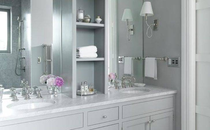 White Grey Bathroom Design Ideas
