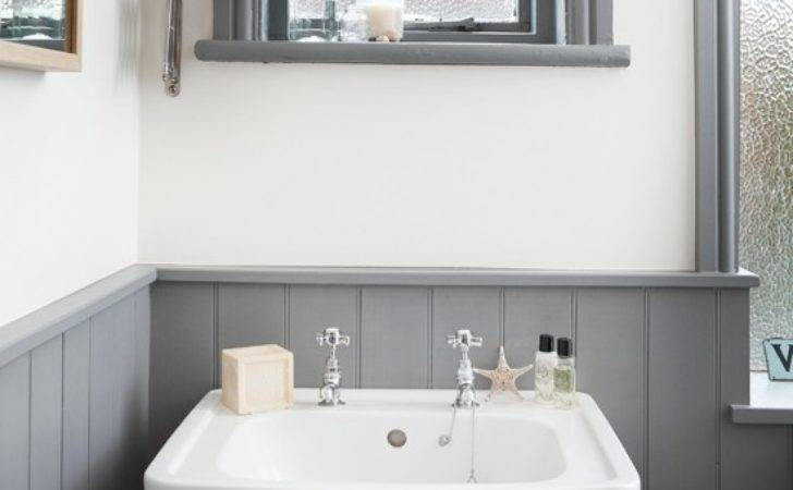 White Grey Bathroom Traditional Basin