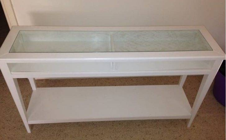 White Ikea Hall Table Quicksales Listing