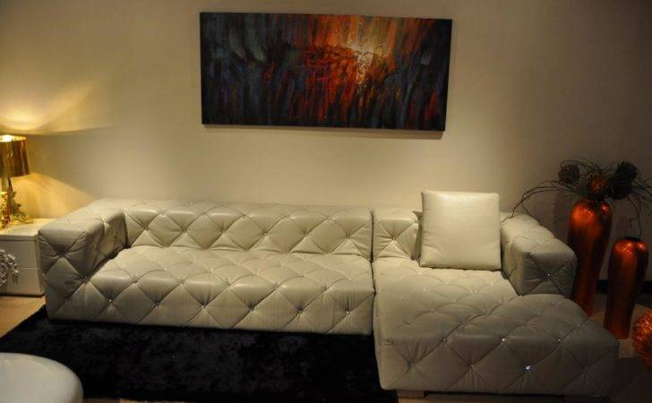 White Leather Sectional Sofa Pillow Small Living