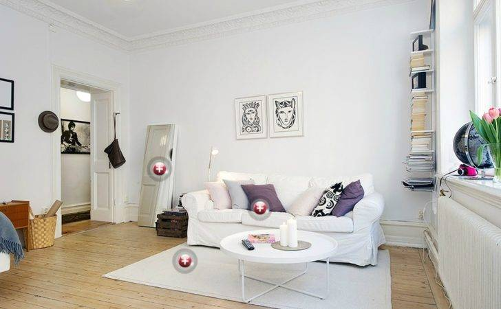 White Living Room Walls Modern House