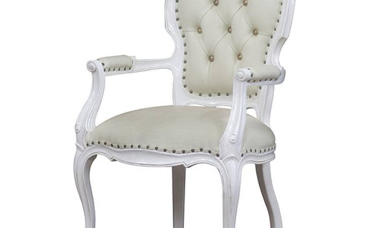 White Painted Dining Chair Indonesia Furniture