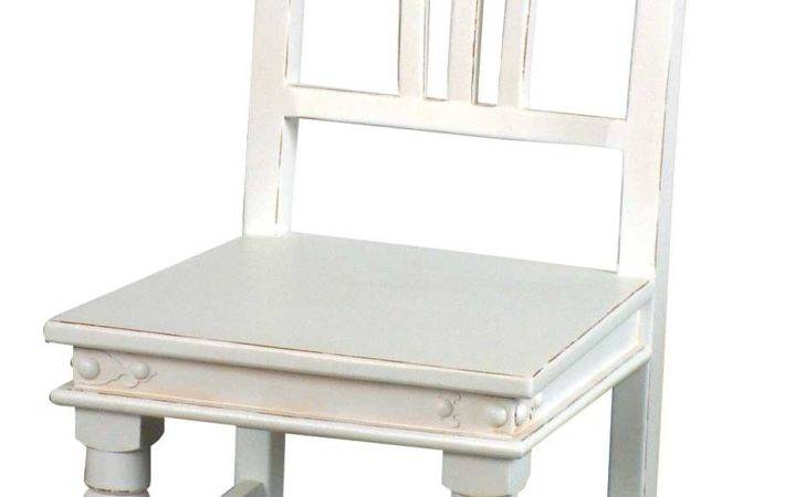 White Painted Dining Table Chairs