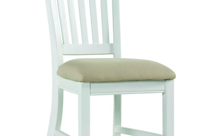 White Painted Pine Dining Chairs Pair Snow