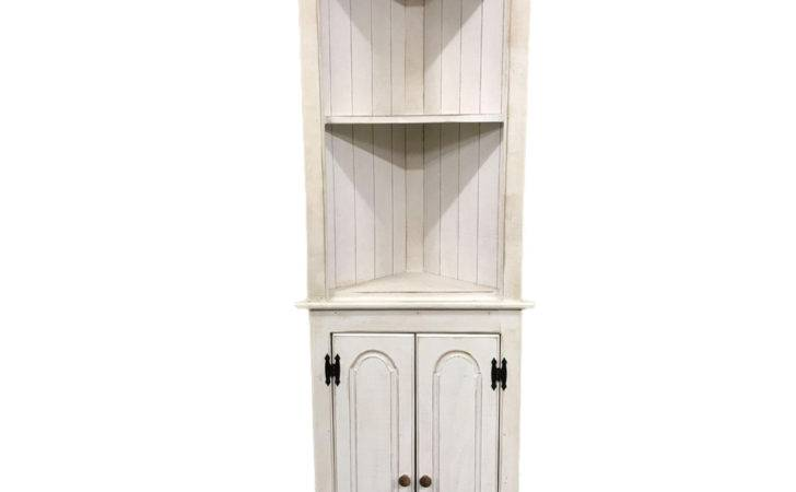 White Small Corner Cabinet Country Home Accents
