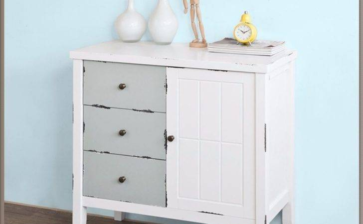White Small Dresser Kitchen Cabinet Shabby Chic Cupboard