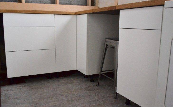 White Stained Wooden Ikea Cupboard Kitchen Pantry