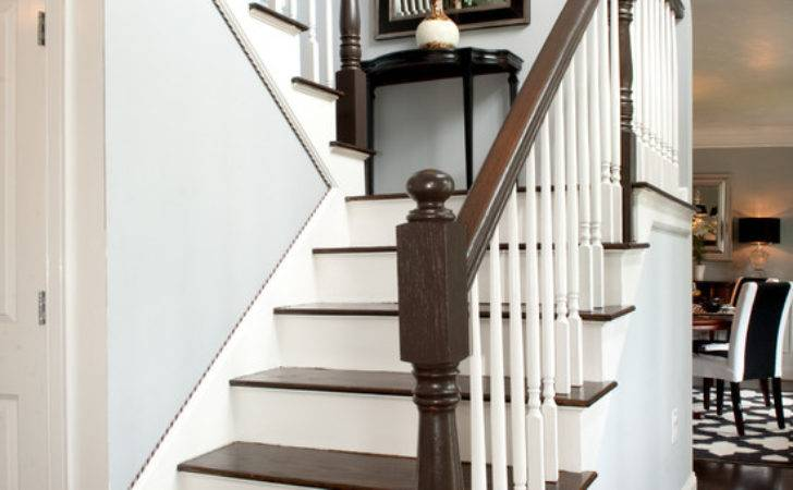 White Stair Railing Design Ideas Remodel Decor