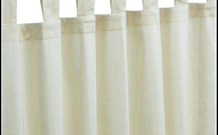 White Tab Top Curtains Teawing