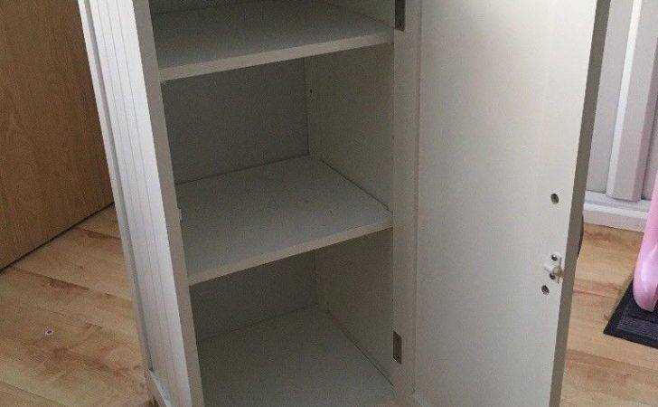 White Tongue Groove Bathroom Wall Cabinet