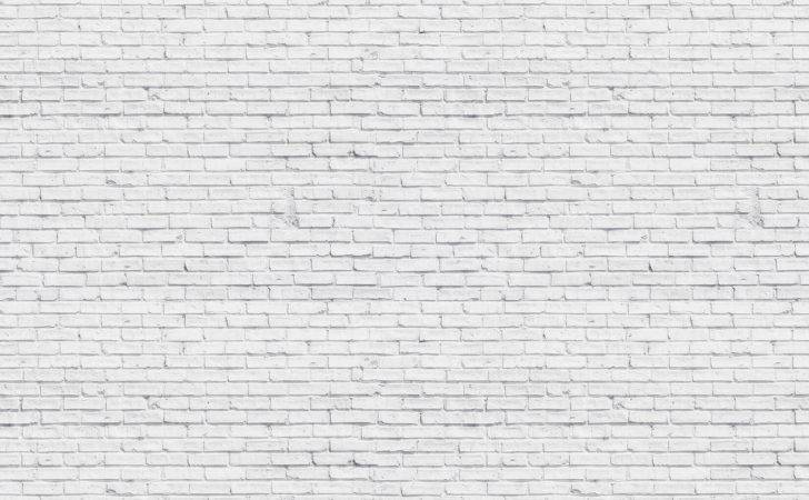 White Washed Brick Wall Muralswallpaper
