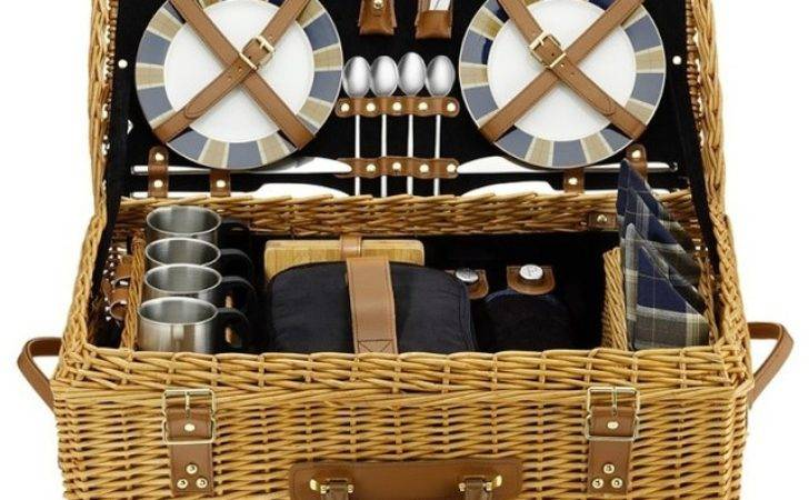Wicker Picnic Basket Traditional Hampers