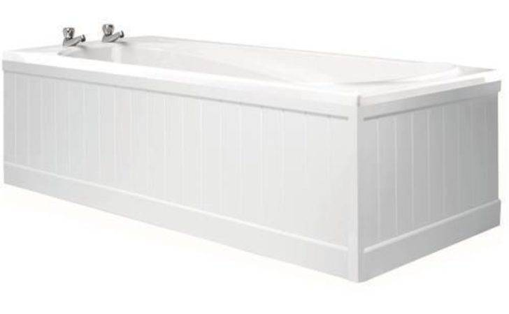 Wickes Tongue Groove Bath Front Panel White Gloss