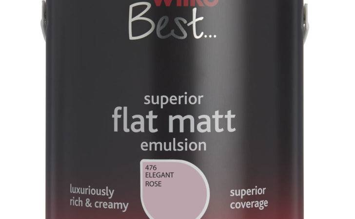 Wilko Flat Matt Emulsion Paint Elegant Rose