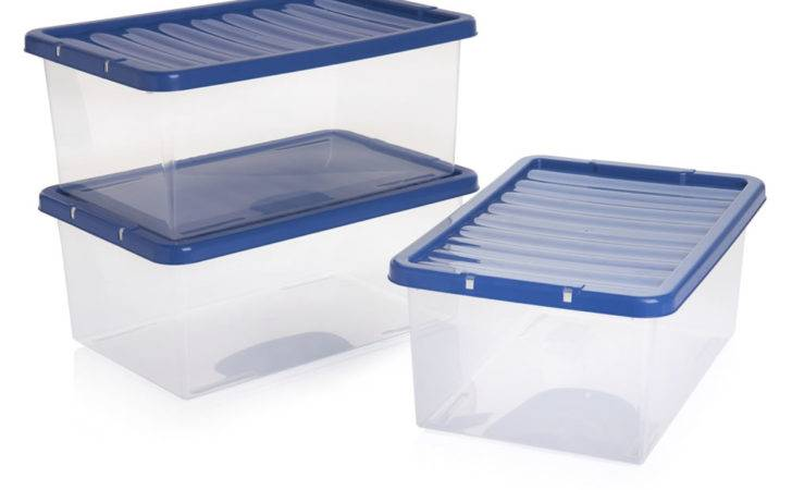 Wilko Storage Box Blue Lid