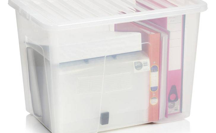 Wilko Storage Box Lid Clear