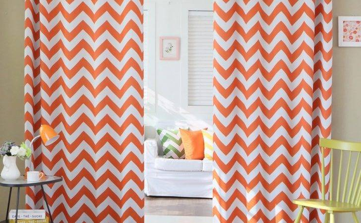 Wonderful Darkening Curtain Panel Chevron Pattern