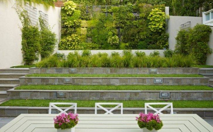 Wonderful Examples Terraced Front Yard Gardens