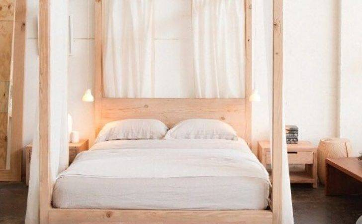 Wood Canopy Bed Home Design