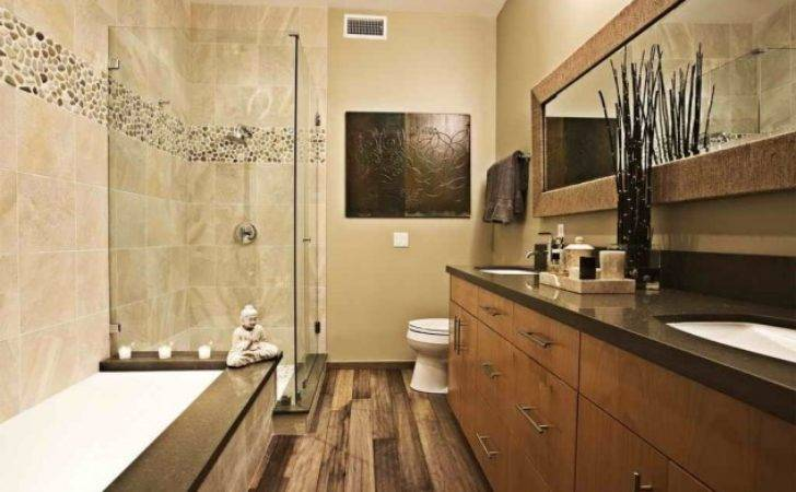 Wood Make Perfectly Beautiful Warm Bathroom