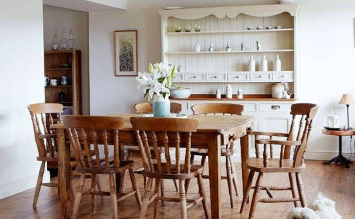 Wood Rich Country Dining Room Decorating Ideas