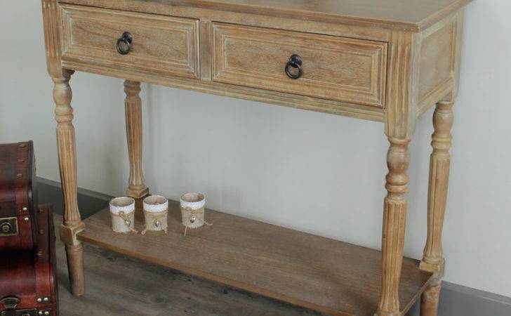 Wooden Console Table Shelf Furniture Living Room Hallway