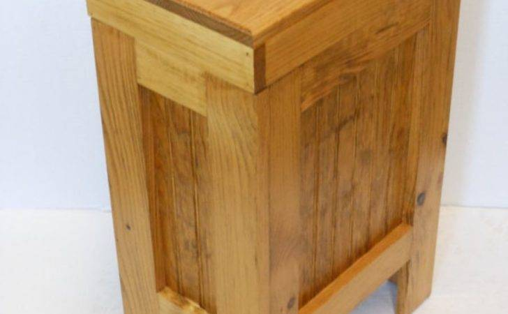 Wooden Kitchen Trash Can Plans Wood Cabinet Decorative
