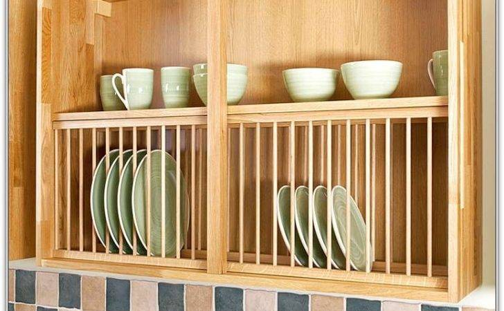 Wooden Plate Rack Platerack Dish Holder Wood