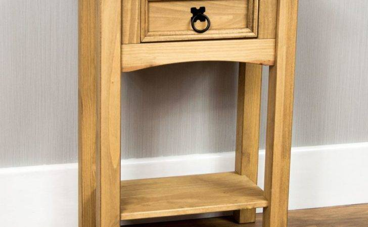 Wooden Small Console Table Hallway Stabbedinback