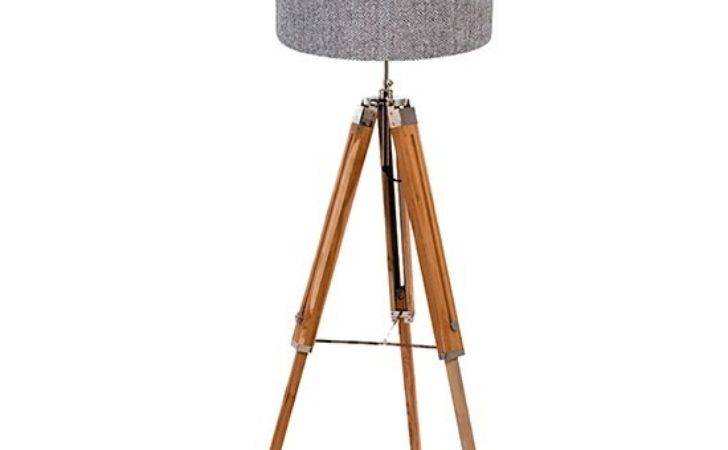 Wooden Tripod Floor Lamp Quirk Country Standard