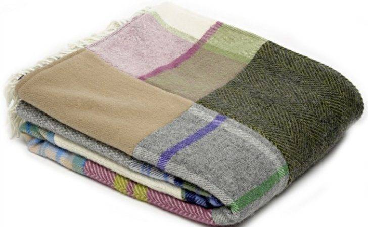 Wool Blanket British Made Gifts Patchwork Pure