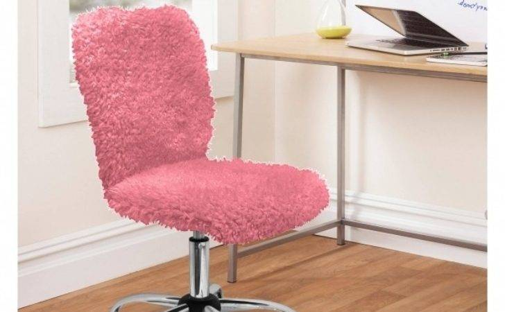 Workspace Leather Chairs Pink Girls Office Chair
